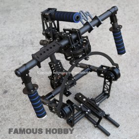 Wholesale BG003 Famoushobby 3 axis Brushless Gimbal/handle camera gimbal/Red Gimbal