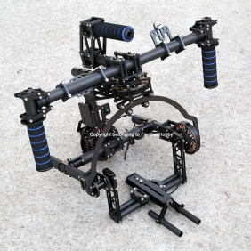 BG004 Famoushobby 3 axis Brushless Gimbal/handle camera gimbal/Red Gimbal(with 3pcs 8108motors)