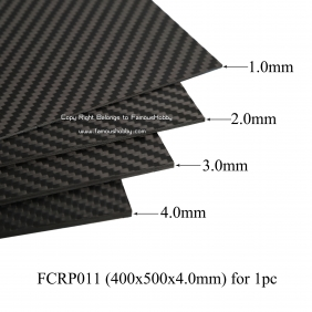 Wholesale FCRP011 400x500x4.0mm 100%/full/pure twill matte finished carbon fiber plate/panel/boars/sheet/rigid plate/3K twill matte surface