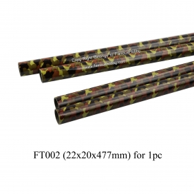 Wholesale FT002 22x20x477mm camouflage paint/hunter green/ Fiber tubes/pipes/square tube/flat/strip/rod gloss SURFACE/composite material