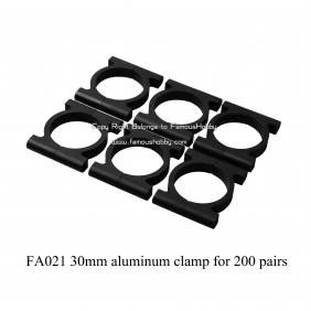 Wholesale FA021 -1 30mm aluminum clamps 200pairs+free shipping by DHL/Fedex/EMS