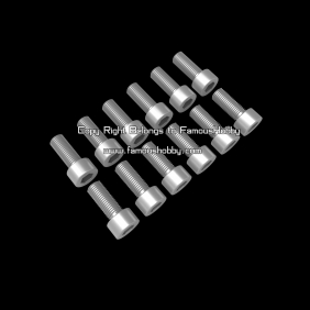 SCW047 M4X10mm stainless screw / cap head / 12pcs/pack