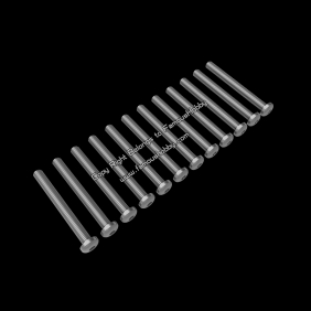 Wholesale SCW029 M3X35mm stainless round head screw / 12pcs/pack