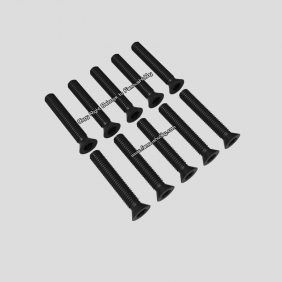 Wholesale SCW077 M3X18mm black flat head screw for multicopter 10pcs/pack