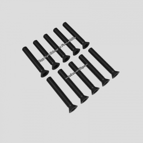 Wholesale SCW078 M3X20mm black flat head screw/ 10pcs/pack