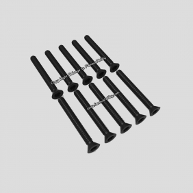Wholesale SCW079 M2.5 X25mm black flat head screw/10pcs for multicopter