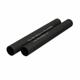 FT064 25X23X215mm twill matte full/pure/100% carbon fiber tube/pipes/strips for 2pcs