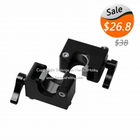 FA020 15mm black anodized aluminum quick released tube clamps for DSLR Camera Gimbal ,2pairs/lot