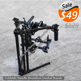 MV018 Full carbon and aluminum square material foldable Handle brushless Gimbal stands/camera gimbal/steadicam stablizer