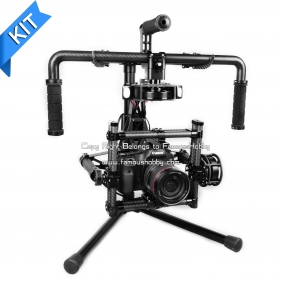 Wholesale KIT BG003-Pro Famoushobby DSLR 3-axis Brushless Gimbal KIT/Canon 5D handle camera gimbal dslr/Camera Mount / camera steablizer/han