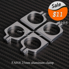 FA018 25mm aluminum clamp/clip multicopter tube use/MOVABLE clamps (4pcs a pack)
