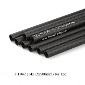 FT042 14x12x500mm 100% full carbon fiber tube/pipes/strips for 1 piece,free shipping by HK post /e Packet