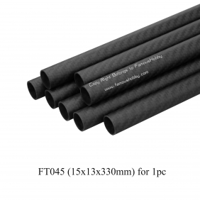 FT045 15x13x330mm 100% full carbon fiber tube/pipes/strips  2 pcs /lot