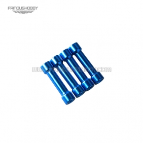 Wholesale M3x20 blue aluminum step spacer/standoff/pillar in blue color RC QuadCopter/quadrotor,4pcs/lot