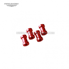 Wholesale FSP046-red  M3x5mm aluminum step spacer/standoff/pillar in red color RC QuadCopter/quadrotor