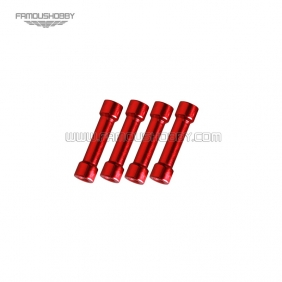 Wholesale FSP054-red M3x46 aluminum step spacer/standoff/pillar in red color RC QuadCopter/quadrotor