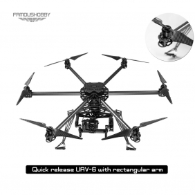 Wholesale Quick released UAV-6 / Hexcopter multirotor /Proffesional drone/rc Multicopter /fpv with rectangular/flat boom /arm+Free Shipping