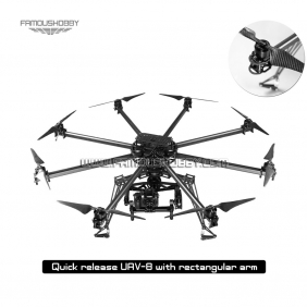 Wholesale KIT UAV-8 Quick Release Octocopter Multicopter/ rc drone fpv/professional Multirotor with Rectangular/ Flat/ Arm UAV-8 Frame