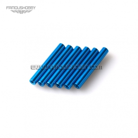 Wholesale FSP032-blue M3x25 Round Aluminum Spacer/ RC QuadCopter Standoff/ Quadrotor for 6 pcs per lot