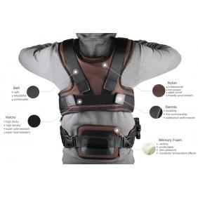 MV136  Famoushobby Camera Shoulder Load Vest,3K Full Carbon Fiber Steadicam Camera Vest,Smooth Shooter Support System for Video DS