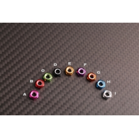 Wholesale FSN004 Colored M3 Aluminum Flanged Nylon Insert Lock Nuts for RC drones/ Multicopters,10pcs/lot