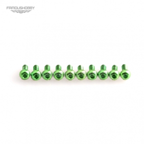 Wholesale Green M3X10MM  Aluminum Botton Bolts,Round Head aluminum screws for RC Drone / Quadcopters,10pcs/lot2