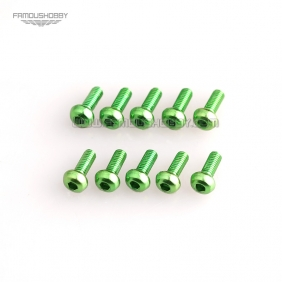 Wholesale Green M3X6MM  Aluminum Botton Bolts,Round Head aluminum screws for RC Drone / Quadcopters,10pcs/lot2