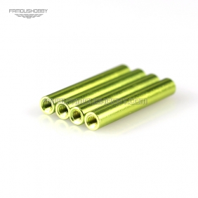 Wholesale Green M3x35mm Round Aluminum Spacer/ RCStandoff/ Frame Kit /Carbon Fiber Pillar/ Red standoff,4pcs/lot