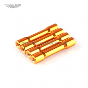 Wholesale M3x35mm Gold aluminum Standoff,Step spacer/pillar RC QuadCopter/quadrotor,4pcs/lot