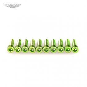 Wholesale 7075 Green M3X6MM  Aluminum Socket Bolts,cap head aluminum screws for RC Drone / Quadcopters,50pcs/lot