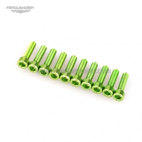 7075 Green M3X12MM  Socket Aluminum Bolts,hex cap head aluminum screws for RC Drone / Quadcopters,50pcs/lot