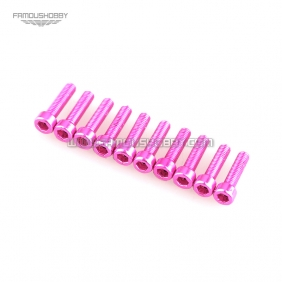 Wholesale M3X10M  Pink color Socket Aluminum Bolts,cap head aluminum screws for RC Drone / Quadcopters,10pcs/lot