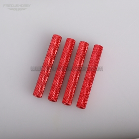 Wholesale M3*35mm Red Knurled Texture  Aluminum Round Spacer/Standoff for FPV Drone Quadcopter,4pcs/lot