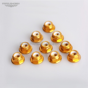 50pcs/ Lot, M5 Colored Aluminum Flange Nylon Insert  Hexagon Lock Nuts,Free shipping by HK post