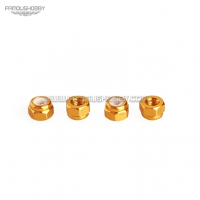 Wholesale FSN012 CCW M5 Aluminum low profile Nylon Insert Lock Nuts for RC drones/ Multicopters ,10pcs/lot