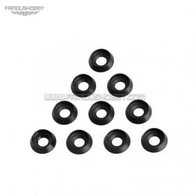 M3725  M3x7x2.5mm CNC Aluminum multicolor countersink washers/shims,10pcs/lot