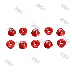 Wholesale FSN013  M5 Aluminum Serrated Flanged Nylon Insert Lock Nuts for RC drones/ Multicopters,10pcs/lot