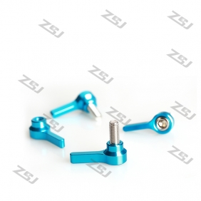 Wholesale MV142 Blue DJI Style CNC Aluminum customized M6 single thumb screws,knob bolts, 6pcs/lot