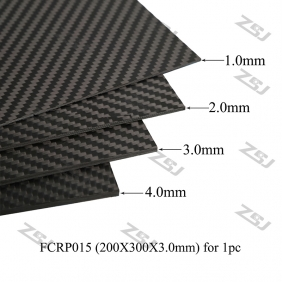 Wholesale Free DHL Shipping,Special Price 4pcs 200X300X3.0mm Full Carbon Fiber Sheets for RC Drone/Frame