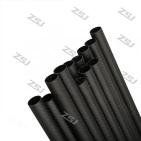 FT033 Free shipping by DHL/Fedex 25X23X1000mm 100% carbon fiber tube 50pcs/lot