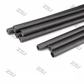 Wholesale FT066 Free shipping by HK post/ePacket 25X22X500mm twill matte full/pure/100% carbon fiber tube/pipes/strips for 1pc