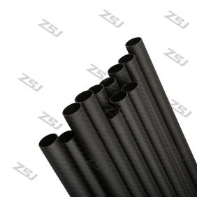 FT067 Free shipping by HK post/ePacket 26X24X500mm twill matte full/pure/100% carbon fiber tube/pipes/strips for 1pc