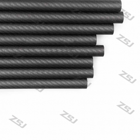 Wholesale FT070 Free shipping by HK post/ePacket 38X35X500mm twill matte full/pure/100% carbon fiber tube/pipes/strips for 1pc