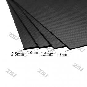 Wholesale FCRP008 400x500x2.5mm 100%/full/pure twill matte finished carbon fiber plate/panel/boars/sheet/rigid plate/3K twill matte surface