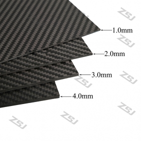 Wholesale FCRP036 400X250X1.0mm 100%/full/pure twill matte finished carbon fiber plate/panel/boars/sheet/rigid plate/3K twill matte surface