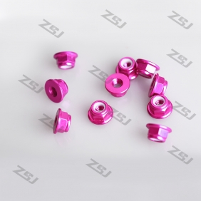 Color Sample ! M3 Aluminum Hexagon Flange Nylon Insert Lock Nuts, 9pcs/lot