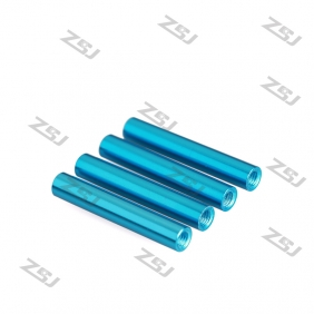 Wholesale FSP024 M3x10mm Colored Round Aluminum Spacer/ Standoff for RC Frame Kit /Carbon Fiber Pillar,4pcs/lot