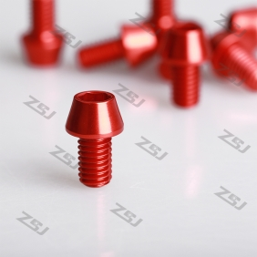 Wholesale High Quality  M6x25mm Blue/ Red Color anodized aluminum tapered screw,10pcs/lot