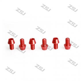Wholesale New M6x10mm color anodized aluminum tapered screw,10pcs/lot
