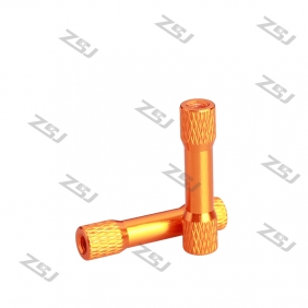 Wholesale M3*28mm Knurled step standoff,Orange color anodize Texture step spacer for RC Drone ,  4pcs/lot